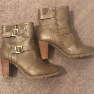 Ankle booties with heel